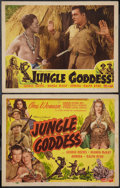 """Movie Posters:Adventure, Jungle Goddess (Screen Guild Productions, 1948). Title Lobby Cardand Lobby Card (11"""" X 14""""). Adventure.. ... (Total: 2 Items)"""