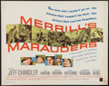 "Movie Posters:War, Merrill's Marauders (Warner Brothers, 1962). Half Sheet (22"" X28""). War.. ..."