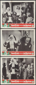 """Movie Posters:Fantasy, Santa Claus Conquers the Martians (Embassy, 1964). Lobby Cards (3)(11"""" X 14""""). Fantasy.. ... (Total: 3 Items)"""