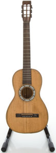 Musical Instruments:Acoustic Guitars, Late 1800's Unknown French Parlor Refinished Acoustic Guitar....