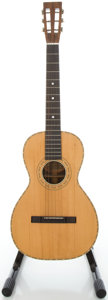 Musical Instruments:Acoustic Guitars, 1900's Washburn Parlor Natural Acoustic Guitar, Serial #343438....