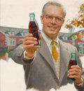 Mainstream Illustration, HADDON HUBBARD SUNDBLOM (American, 1899-1976). Coca-Colaadvertisement. Oil on board. 15 x 14 in.. Not signed. ...