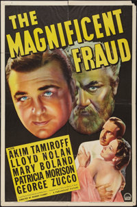 "The Magnificent Fraud (Paramount, 1939). One Sheet (27"" X 41""). Drama"