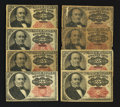 Fractional Currency:Fifth Issue, Eight 25¢ Fifth Issue Notes Good-Very Fine.. ... (Total: 8 notes)