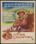 """Movie Posters:Western, The Far Country (Universal International, 1955). Window Card (14"""" X 17.5""""). Western.. ..."""