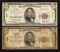 National Bank Notes:Maine, Portland, ME - $5 1929 Ty. 1 The Canal NB Ch. # 941;. Rockland, ME- $5 1929 Ty. 1 The Rockland NB Ch. # 1446. ... (Total: 2 notes)
