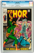 Silver Age (1956-1969):Superhero, Thor #167 (Marvel, 1969) CGC NM+ 9.6 Off-white to white pages....