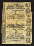 Confederate Notes:1863 Issues, T58 $20 1863. T60 $5 1863 Three Examples.. ... (Total: 4 notes)