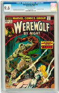 Bronze Age (1970-1979):Horror, Werewolf by Night #13 (Marvel, 1974) CGC NM+ 9.6 Off-white to whitepages....