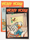 Platinum Age (1897-1937):Miscellaneous, Mickey Mouse Magazine V5#9 and 10 Apparent Group (K. K.Publications/ Western Publishing Co., 1940).... (Total: 2 ComicBooks)