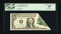 Error Notes:Foldovers, Fr. 1913-B $1 1985 Federal Reserve Note. PCGS Choice About New 55.....