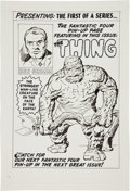 Original Comic Art:Splash Pages, Angel Gabriele Fantastic Four #2 Thing Pin-Up Re-CreationOriginal Art (undated). ...