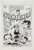 Original Comic Art:Splash Pages, Angel Gabriele Avengers #3 Splash Page 1 Re-CreationOriginal Art (undated). ...