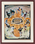 Baseball Collectibles:Photos, 3000 Strikeout Club Multi Signed Oversized Photograph....