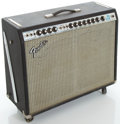 Musical Instruments:Amplifiers, PA, & Effects, 1970's Fender Twin Reverb Silverface Guitar Amplifier, Serial #A61295...