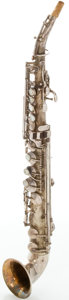 Musical Instruments:Horns & Wind Instruments, Circa mid 1920's King Saxello Soprano Saxophone Silver, Serial #83581....