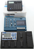 Musical Instruments:Amplifiers, PA, & Effects, Effects Pedal Lot: Boss, Tascam, Drum Machine and Recording. ...(Total: 3 Items)
