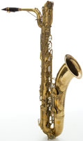 Musical Instruments:Horns & Wind Instruments, Circa 1953 Conn Naked Lady Brass Baritone Saxophone, Serial#354238....