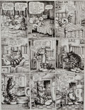 "Original Comic Art:Panel Pages, Robert Crumb Cavalier ""Fritz the No Good"" Page 8 OriginalArt (1968)...."