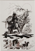 Original Comic Art:Panel Pages, Arthur Suydam Frank Frazetta Death Dealer #4 Page 21 Original Art (Verotik, 1997)....