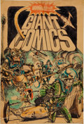 Original Comic Art:Miscellaneous, W. T. Vinson Wham-O Giant Comics #1 Cover PreliminaryOriginal Art (Wham-O, 1967)....
