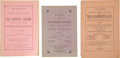 Miscellaneous:Booklets, [The Grange]. Three Volumes of the Minutes of Texas Co-opAssociation, Patrons of Husbandry....
