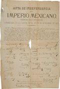 Miscellaneous:Broadside, 1887 Printing of the 1821 Mexican Declaration ofIndependence....