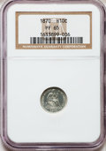 Proof Seated Half Dimes, 1870 H10C PR65 NGC....
