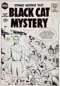 Original Comic Art:Covers, Jack Kirby Black Cat Mystery #57 Cover Original Art (Harvey,1956)....