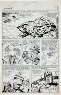 Original Comic Art:Panel Pages, Jack Kirby and Paul Reinman X-Men #5 First Appearance ofMagneto's Asteroid M Page 7 Original Art (Marvel, 1964)....