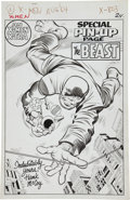 Original Comic Art:Splash Pages, Jack Kirby and Chic Stone X-Men #8 The Beast Special Pin-UpPage Original Art (Marvel, 1964)....
