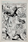 Original Comic Art:Panel Pages, Ernie Chan and Fred Carrillo Unpublished Swamp Thing #25Page Original Art Group (DC, 1976).... (Total: 8 Original Art)