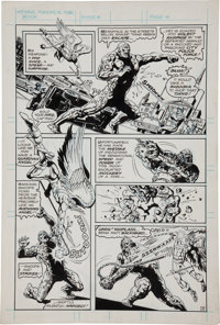 Ernie Chan and Fred Carrillo Unpublished Swamp Thing #25 Page Original Art Group (DC, 1976).... (Total: 8 Original Art)