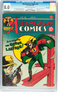 Golden Age (1938-1955):Superhero, All-American Comics #16 Billy Wright pedigree (DC, 1940) CGC VF 8.0Off-white to white pages....