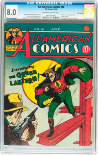 All-American Comics #16 Billy Wright pedigree (DC, 1940) CGC VF 8.0 Off-white to white pages