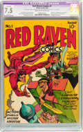 Golden Age (1938-1955):Superhero, Red Raven Comics #1 (Timely, 1940) CGC Apparent VF- 7.5 Slight (P) Cream to off-white pages....