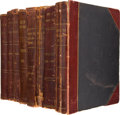 Books:Periodicals, Dallas Morning News, Eight Leather Bound Volumes of TypedIndexes for the Years 1903-1910. ... (Total: 8 Items)