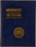 Books:Reference & Bibliography, Harold Schoen, compiler. Monuments Erected by the State of Texasto Commemorate the Centenary of Texas Independence. ...