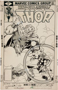 Original Comic Art:Covers, Keith Pollard and Bob Layton Thor Annual #8 Cover OriginalArt (Marvel, 1979)....