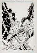 Original Comic Art:Covers, Joe Orlando and Mike DeCarlo The New Teen Titans #33 CoverOriginal Art (DC, 1987)....