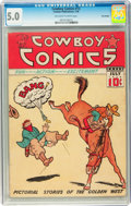 Golden Age (1938-1955):Western, Cowboy Comics #13 Billy Wright pedigree (Centaur, 1938) CGC VG/FN5.0 Off-white to white pages....