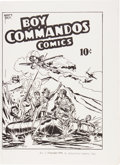 Golden Age (1938-1955):War, Boy Commandos Comics #1 Ashcan Edition (DC, 1942) Condition:FN-....
