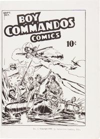 Boy Commandos Comics #1 Ashcan Edition (DC, 1942) Condition: FN-