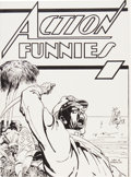 Golden Age (1938-1955):Superhero, Action Funnies Ashcan Edition (DC, 1937/38) Condition: VF+....