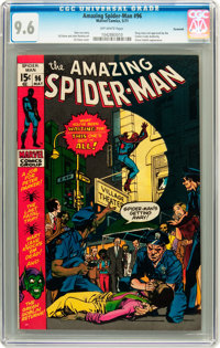 The Amazing Spider-Man #96 Savannah pedigree (Marvel, 1971) CGC NM+ 9.6 Off-white pages