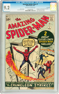 The Amazing Spider-Man #1 Twin Cities pedigree (Marvel, 1963) CGC NM- 9.2 Off-white to white pages