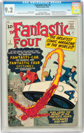 Silver Age (1956-1969):Superhero, Fantastic Four #3 Curator pedigree (Marvel, 1962) CGC NM- 9.2Off-white to white pages....