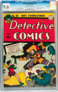 Golden Age (1938-1955):Superhero, Detective Comics #89 Rockford pedigree (DC, 1944) CGC NM+ 9.6 Off-white to white pages....