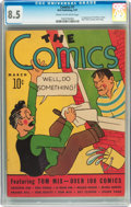 Platinum Age (1897-1937):Miscellaneous, The Comics #1 (Dell, 1937) CGC VF+ 8.5 Cream to off-white pages....