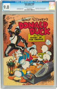 Four Color #159 Donald Duck (Dell, 1947) CGC VF/NM 9.0 Off-white to white pages